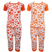 Eazy Trendz Baby Girls Gorgeouse Floral Printed Half Sleeve Top & Bottom Tshirt and Pant Super Set of 2