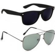 Gansta Aviator Sunglasses(Violet, Grey)