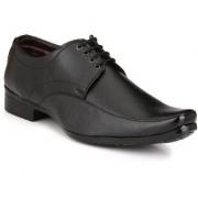 Knoos Men Black Lace-Up Formal Shoes