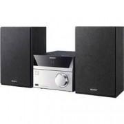 Sony Stereo systém Sony CMT-SBT20B, AUX, Bluetooth, CD, DAB+, NFC, FM, USB, černá, stříbrná