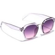 Coolwinks Retro Square Sunglasses(Violet)