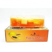 Purest Herbal Exotic Papaya Fresh Soap (100 g) Pack of 3
