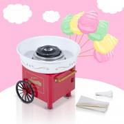 HomCom® Máquina de Algodão Doce Elétrica Profissional Vermelho 30x30x28cm