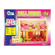 Sara Collections Multicolor 34 pc Barbie Doll House Gift for Girl Kid
