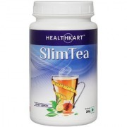 Healthkart Slim tea with Garcinia Green tea and Green coffee extracts Refreshes and Revitalizes for weight management 200g honely lemon flavor
