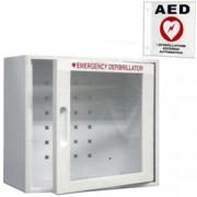 armadietto teca a muro defibrillatore - 34x18xh.33cm - con allarme + c