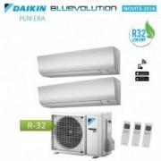Daikin CLIMATIZZATORE CONDIZIONATORE DAIKIN DUAL SPLIT 7+7 INVERTER PERFERA FTXM BLUEVOLUTION R-32 7000+7000 CON 2MXM40M