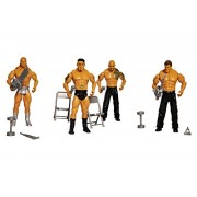 Toyshine Pack of 4 WWE Action Figure Combo with Playing Accessories