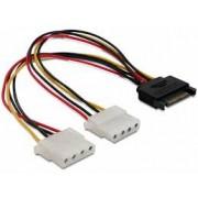 Cablu alimentare SATA - 2x Molex KFSA-9 - 15cm