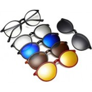 Vast Round Sunglasses(Clear, Grey, Yellow, Blue, Brown, Silver)