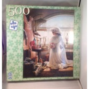 F.X. Schmid 500 Piece Puzzle Daddys Little Girl By Artist Greg Olsen Shows A Young Girl In What Appears To Be Her Mothers Wedding Dress Dreaming Of Her Wedding Day