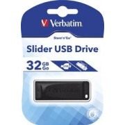 Flashdrive Verbatim Slider 32GB, Black