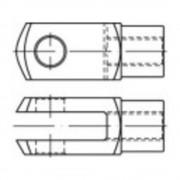 TOOLCRAFT vilica priključak DIN 71752 24 mm čelik, pocinčani 10 komada
