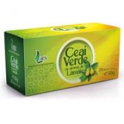 Ceai verde cu aroma de lamaie 20plicuri LARIX