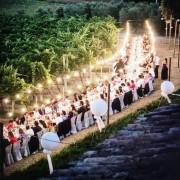 Luci Da Esterno Catenaria di lampadine da 25 Metri con 25 Lampadine a LED da 4W bianco caldo con cavo nero non prolungabile