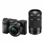Sony Alpha A6000 negru + SEL16-50mm F3.5-5.6 + SEL55-210mm Wi-Fi/NFC RS125011360-6