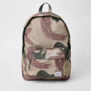 Herschel Mens Herschel Green Classic camo backpack (One Size)