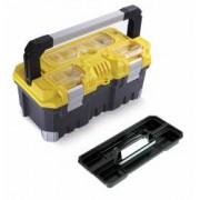 Cutie de scule TITAN Professional - 20 cu inchizatori si maner din aluminiu cu 3 organizatoare transparente pe capac