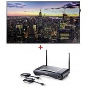 "Pachet solutie profesionala TV LED Samsung 65"", Ultra HD 4K, HDMI + Solutie transmisie semnal AV wireless Click Share CSE-200"