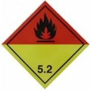 Autocolant eticheta avertizareinformare ADR 5.2 Cargoparts