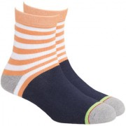 Soxytoes Sport Stripes 2 Orange Cotton Ankle Length Pack of 1 Pair Striped for Men Athletic Sports Socks (STS0033C)
