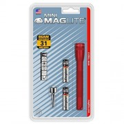 Maglite Mini Incandescent 2-Cell AAA Flashlight, Red