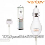 Cargador Auto Plug In iPhone 4 y 4s Ventev