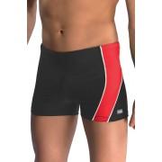 Micheal1 férfi boxer fürdőnadrág, fekete-piros XXL