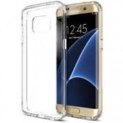 Pachet husa slim Samsung Galaxy S7 Edge Transparenta cu folie de protectie gratis