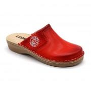 Leon Comfortstep 360 piros női bőr papucs 36-41