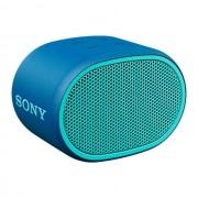 Boxa portabila Sony SRSXB01L, Rezistenta la stropire, Extra Bass, Bluetooth, Hands Free, Autonomie 6 ore, Albastru
