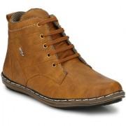 Krasiva Men's Beige Synthetic Casual Boots