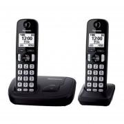Kit 2 Teléfonos Inalámbricos Panasonic KX-TGD212AG-Negro