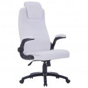 vidaXL Kancelářské nastavitelné otočné křeslo z umělé kůže - bílé