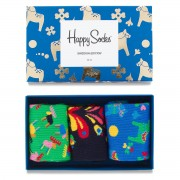 Set de 3 perechi de șosete medii unisex HAPPY SOCKS - XSWE08-6000 Colorat