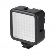 EY 5.5W 800lm 6000K Mini Portable Long Life 49 LED Video Light Lamp Photographic Photo Lighting For Camera Photography-Black