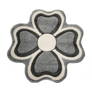 Covor Rixos forma floare gri 80x80 cm