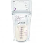 Avent Pungi stocare lapte matern 25buc