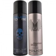 Police To Be And Titanium Wings Deodorant For Men Of 200 ml Each