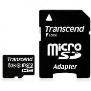 Transcend Memory Card 8gb Microsdhc 1 Adapter