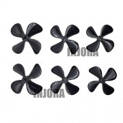 Generic Positive 55mm : New 4mm RC Boat Four Blades Paddle Positive & Reverse Boat Propeller High Stgth Screw D50mm 55mm 60mm