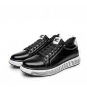 Zapatos Ecocuero De Flats De Encaje Para Hombre - Negro