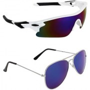 Zyaden Combo of 2 Sunglasses Sport and Aviator Sunglasses- COMBO 2770