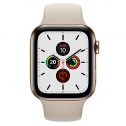 Apple Watch Series 5 GPS 40mm + Cellular Aço Inoxidável Dourado com Bracelete Desportiva Pedra