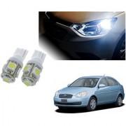 Auto Addict Car T10 5 SMD Headlight LED Bulb for Headlights Parking Light Number Plate Light Indicator Light For Hyundai Old Verna