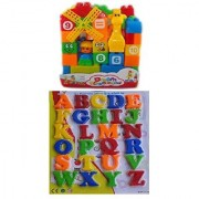 New Pinch 40 pcs. Building Blocks with Magnetic Learning Alphabet Capital Letters (Size big )
