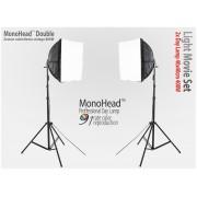 Lampa SOFTBOX światła ciągłego typu Monohead Doble 40x40cm, 2x85W, 2x 230cm