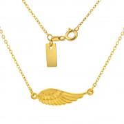 Silvego Stříbrný náhrdelník pozlacený s přívěskem křídla - SMJN15KJ4