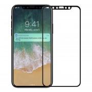 Mica Cristal Templado Para Iphone X 5D Triple Capa Grueso - Negro