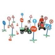 Közlekedési tábla készlet 24 részes kresz szett, mobil szett